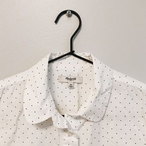 Madewell Polka Dot Long Sleeve Button Down Size XS